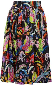Etro Morna graphic-print cotton midi skirt