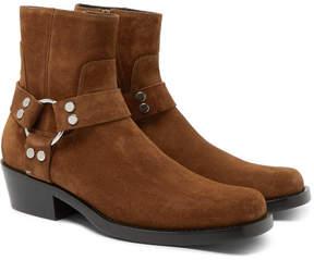 Balenciaga Suede Harness Boots