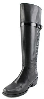 Tahari Killan Wide Calf Women Round Toe Leather Knee High Boot.