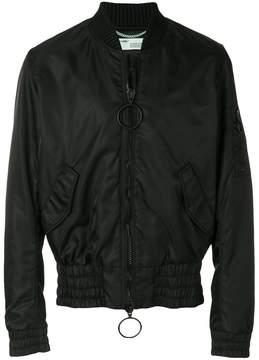 Off-White zipped bomber jacket