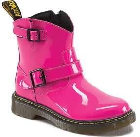Dr. Martens Unisex Children's Blip Engineer Boot Hot Pink Patent Lamper Size 3 M