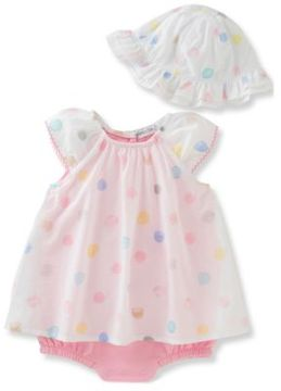Absorba Baby's Three-Piece Dress, Bloomers & Hat Set
