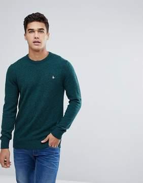Jack Wills Rye Crew Neck Sweater In Dark Green
