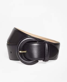 Brooks Brothers Wide Leather Waist Belt