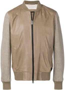HUGO BOSS zip front bomber jacket
