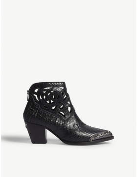 Zadig & Voltaire Cara snake-embossed leather cowboy boots
