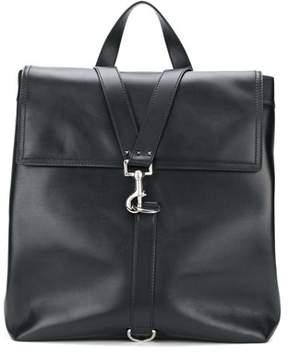 Valentino Men's Black Leather Backpack.