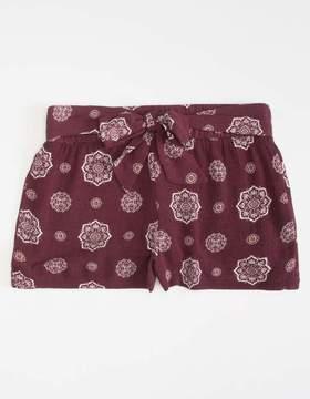 Full Tilt Medallion Girls Tie Front Shorts