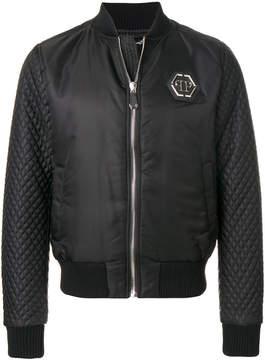 Philipp Plein quilted sleeve bomber jacket