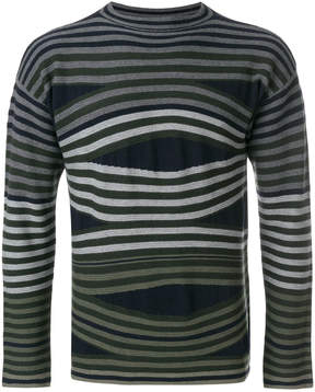 Emporio Armani long sleeved stripe sweater