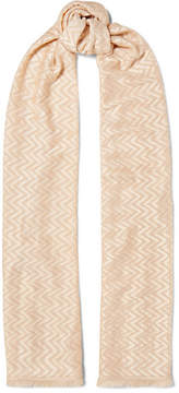 Missoni Fringed Crochet-knit Wrap - Cream