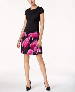 Alfani Printed Scuba Fit & Flare Dress, Created for Macy's