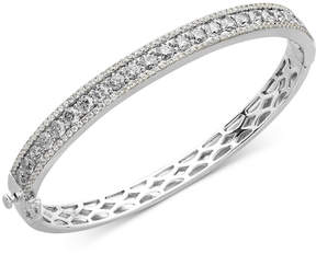 Arabella Sterling Silver White Swarovski Zirconia Bangle Bracelet (9-1/3 ct. t.w)
