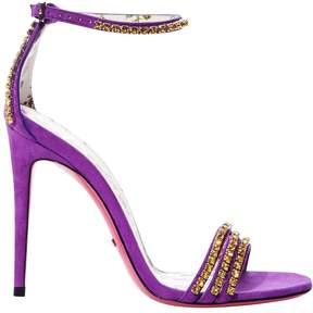 Gucci Crystal Embellished Suede Heel