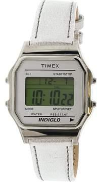 Timex Originals TW2P76800 Silver Leather Quartz Fashion Watch