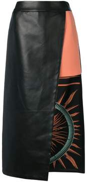 Fausto Puglisi layered asymmetric skirt