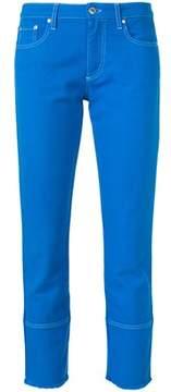 MSGM Women's Blue Cotton Pants.