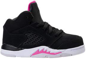 Nike Girls' Toddler Jordan Retro 5 Basketball Shoes