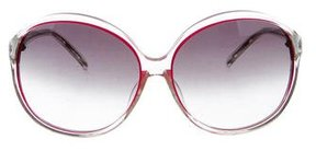 Matthew Williamson Round Gradient Sunglasses