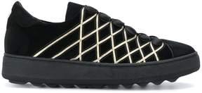 Philippe Model velvet button sneakers