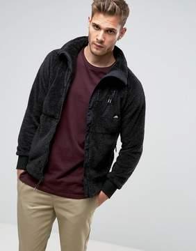 Penfield Breakheart Teddy Fleece Jacket Full Zip in Black