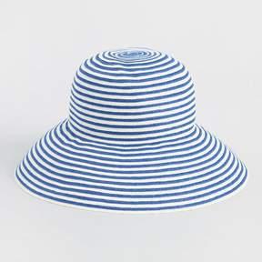 World Market Blue and White Stripe Bucket Hat