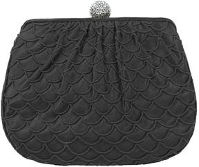 Judith Leiber Vintage Black Silk Handbag