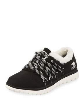Sorel Cozy Go Waterproof Nylon Sneaker, Black