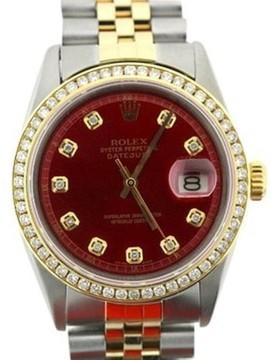 Rolex Datejust 18K Yellow Gold & Stainless Steel Watch 36mm