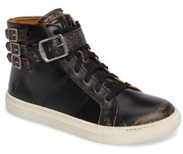 Frye Girl's Dylan Buckle Strap High-Top Sneaker