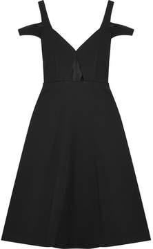 Carven Cutout Crepe Dress - Black