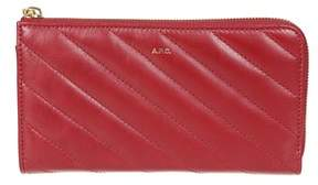 A.P.C. Women's Pxbgaf63047rouge Red Leather Wallet.