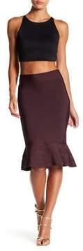 Wow Couture Flutter Hem Pencil Skirt