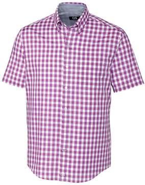 Cutter & Buck Violet Gingham Los Rios Short-Sleeve Button-Up - Men