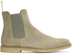Common Projects Grey Suede Chelsea Boots