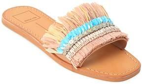 Dolce Vita Cadiz Embellished Raffia Slide Sandals