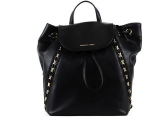 MICHAEL Michael Kors Middle Sadie Backpack In Leather - BLACK - STYLE