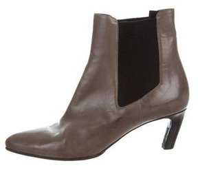 Dries Van Noten Leather Pointed-Toe Ankle Boots