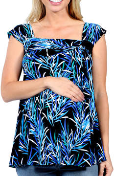 24/7 Comfort Apparel Blue Night Bamboo SleevelessMaternity Tunic Top