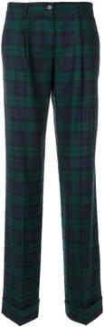 P.A.R.O.S.H. plaid flared trousers