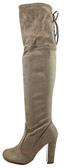 Material Girl Womens Priyanka Closed Toe Over Knee Fashion Boots.