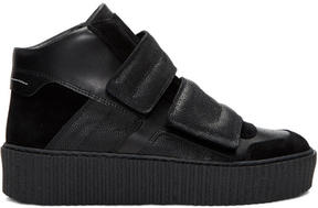 MM6 MAISON MARGIELA Black Platform High-Top Sneakers