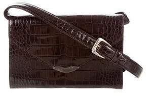Ralph Lauren Crocodile Envelope Bag