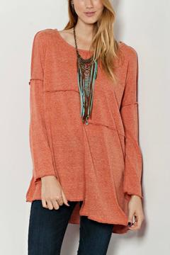 Easel Oversized Stitch Top