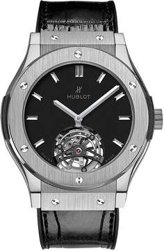 Hublot Classic Fusion Tourbillon 45mm Dial Black Hand Wind Men's Watch