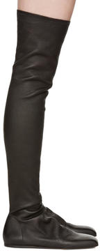 Rick Owens Black Ballerina Over-the-Knee Boots