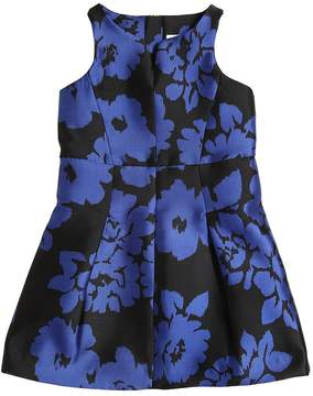 Milly Minis Flowers Print Twill Party Dress