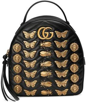 Gucci GG Marmont animal studs leather backpack - BLACK - STYLE