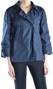 ADD Women's Blue Polyamide Trench Coat.