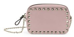 VALENTINO GARAVANI Rockstud Leather Chain Pouch